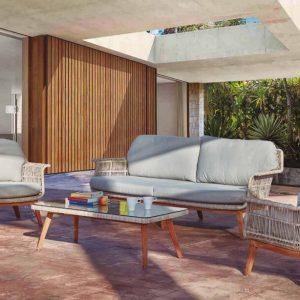 202005116 - Ниска градинска маса с елегантен дизайн - Размери: 130*60*40см