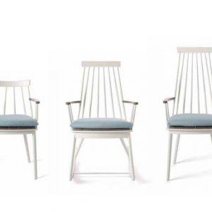 202005153 - Дизайнерски, градински стол с бяла основа и елегантна облегалка